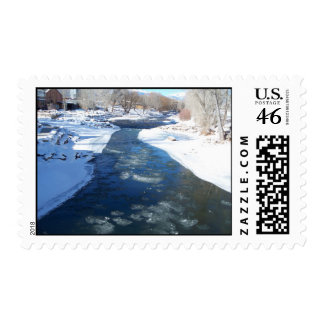 Icy Arkansas River Stamps