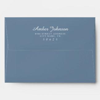 Icy Blue 5 x 7 Pre-Addressed Envelopes