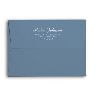 Icy Blue 5 x 7 Pre-Addressed Envelopes