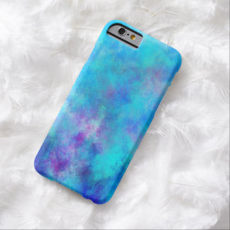 Icy Blue Abstract Design Barely There iPhone 6 Case