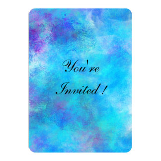 Icy Blue Abstract Design Card