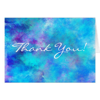 Icy Blue Abstract Design Stationery Note Card