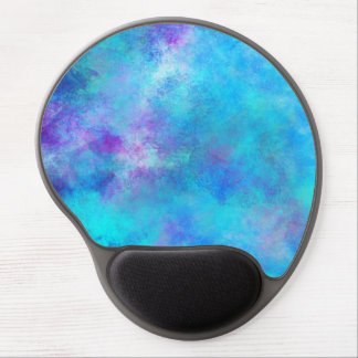Icy Blue Abstract Design Gel Mouse Pad