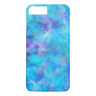 Icy Blue Abstract Design iPhone 7 Plus Case