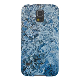 Icy blue abstract texture galaxy s5 cover