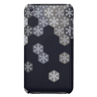 Icy Blue And Gray Winter Snowflake Hexagons Barely There iPod Case
