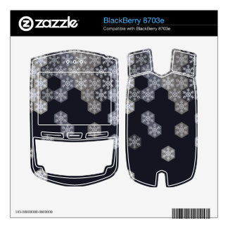 Icy Blue And Gray Winter Snowflake Hexagons Skin For BlackBerry