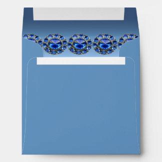 Icy Blue Bejeweled Wedding Envelope