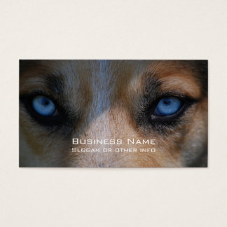 Icy Blue Canine Eyes Business Card
