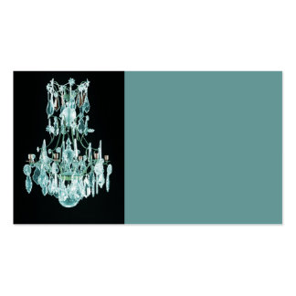 Icy Blue Chandelier Business Card