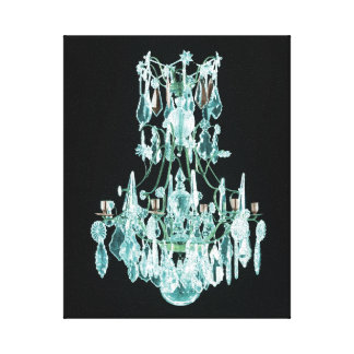 Icy Blue Chandelier Canvas Print