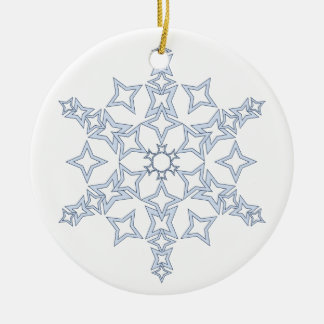 Icy Blue Crystal Snowflake Ornament