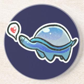 Icy Blue Love Turtle Coasters