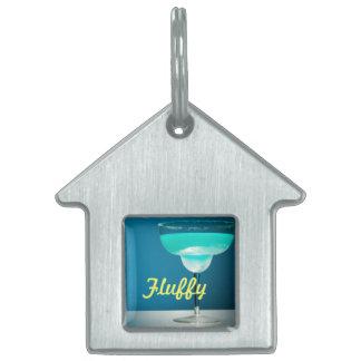Icy Blue Margarita Pet ID Tag