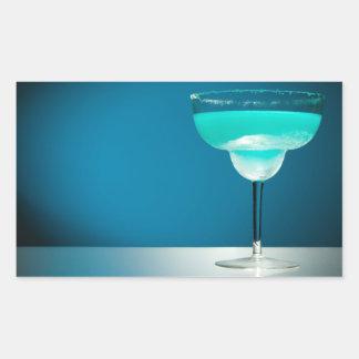 Icy Blue Margarita Rectangular Sticker