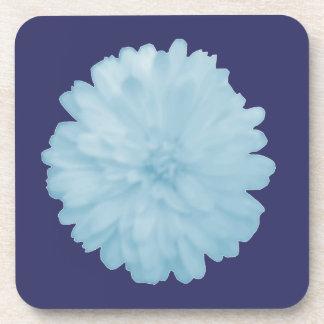 Icy Blue Marigold Cork Coaster