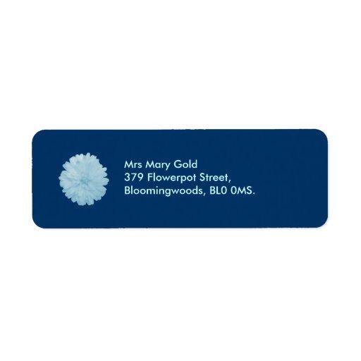 Icy Blue Marigold Custom Address Labels