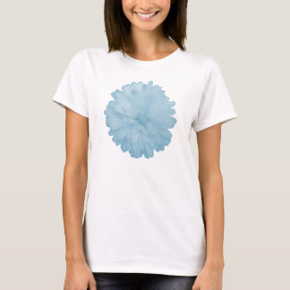 Icy Blue Marigold Ladies T Shirt