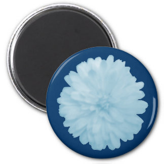 Icy Blue Marigold Magnet