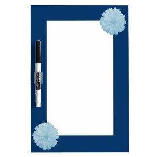 Icy Blue Marigold Memo Board