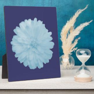 Icy Blue Marigold Plaque