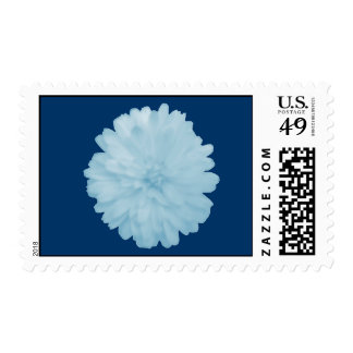 Icy Blue Marigold Postage Stamps
