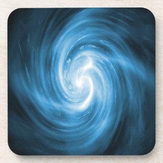 Icy Blue Nebula Wave Drink Coaster