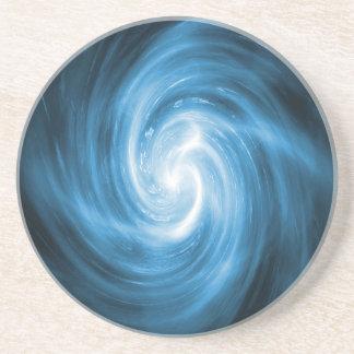 Icy Blue Nebula Wave Drink Coasters
