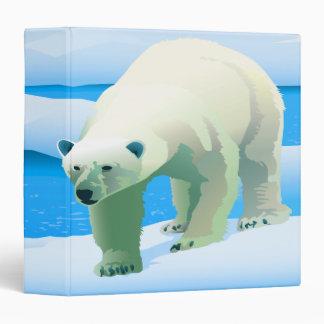 icy blue polar bear notebook binder