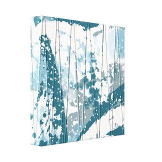 Icy Blue Snowdrift Abstract Wall Art Canvas Print