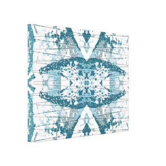 Icy Blue Snowdrift II Abstract Wall Art Canvas Print