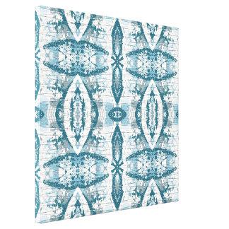 Icy Blue Snowdrift III Abstract Wall Art Canvas Print