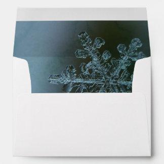 Icy Blue Snowflake Envelope