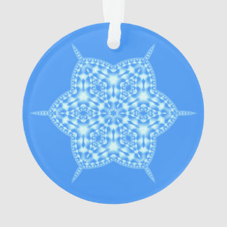 Icy Blue Snowflake Ornament