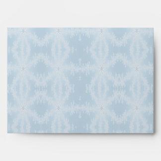 Icy Blue Snowflake Pattern Envelope