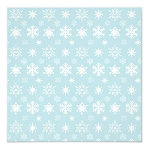 Icy Blue Snowflakes Party Invitation