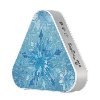 Icy Blue Snowflakes Pieladium Speaker