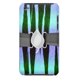 icy blue tiger stripes animal print pattern barely there iPod case