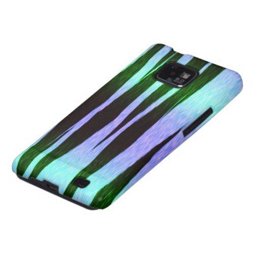 icy blue tiger stripes animal print pattern samsung galaxy case