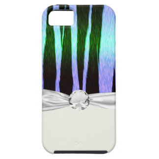 icy blue tiger stripes animal print pattern iPhone SE/5/5s case