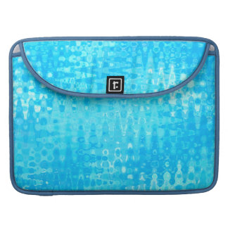 Icy Blue Water Ripples Bubbles Organic Pattern MacBook Pro Sleeve