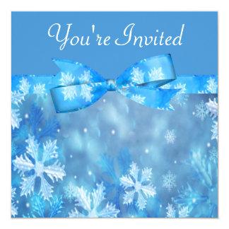 Icy Blue Winter Wonderland Wedding Card