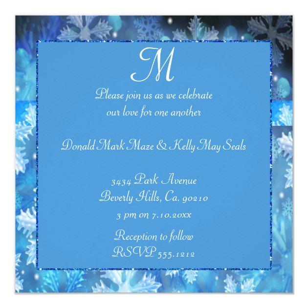 Icy Blue Winter Wonderland Wedding Card Zazzlecom