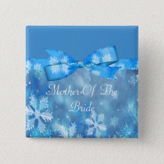 Icy Blue Winter Wonderland Wedding Pinback Button