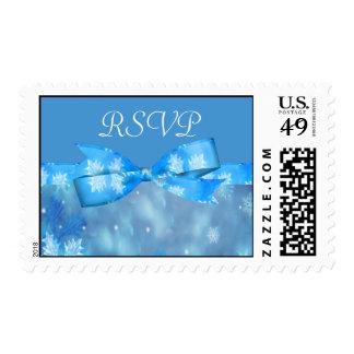Icy Blue Winter Wonderland Wedding Postage