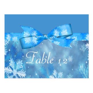 Icy Blue Winter Wonderland Wedding Postcard