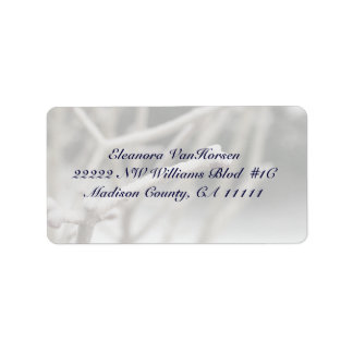 Icy Branch in Winter Customizeable Address Label