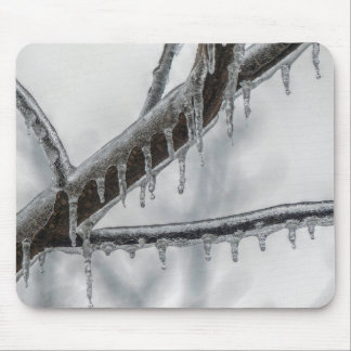 Icy Branch Mouse Pad