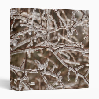 """Icy Branches 1"""" Photo Album 3 Ring Binder"""