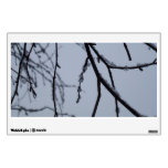 Icy Branches Abstract Winter Nature Photography Wall Decal